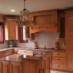 کابینت آشپزخانه با روکش طبیعی